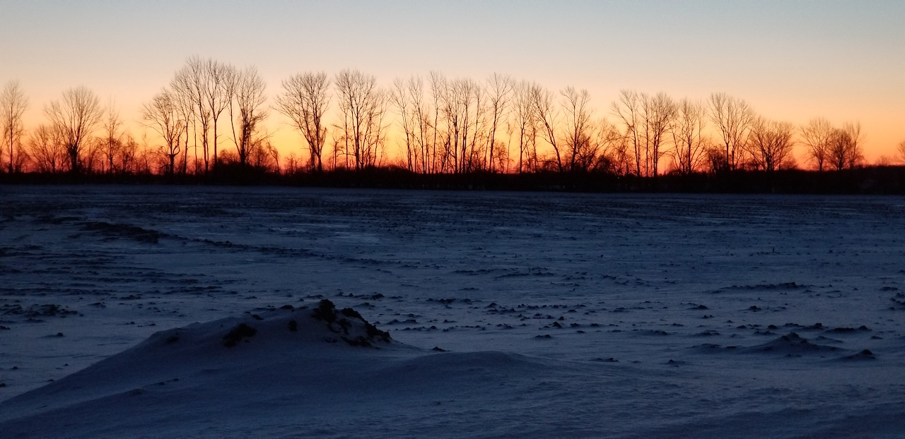 Zero degree morning in Ontario Co. (photo)