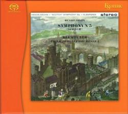 """Symphony no. 3 """"Scottish"""" / Symphony no. 3 """"Rhenish"""" by Mendelssohn  /   Schumann ;   Philharmonia Orchestra ,   Otto Klemperer"""