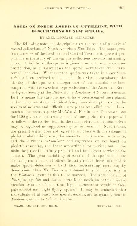 Melander (1903) Trans. Am. Ent. Soc. 29(4): 291-330