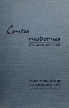 Cover of: Contes modernes | Yale University. Department of French.