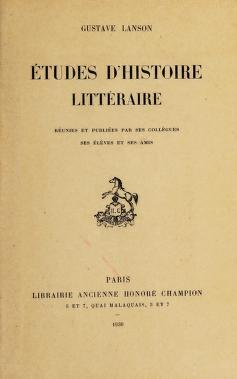 Cover of: Études d'histoire littéraire | Lanson, Gustave