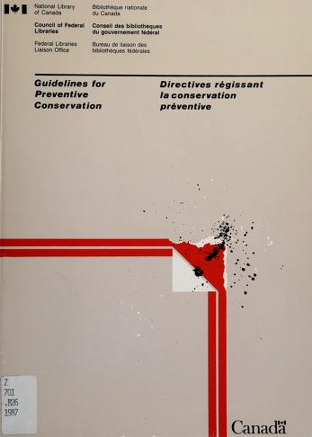 Cover of: Guidelines for preventive conservation = | Joyce M. Banks