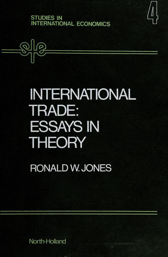 International trade by Ronald Winthrop Jones