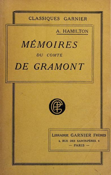 Mémoires du comte de Grammont by Hamilton, Anthony, count
