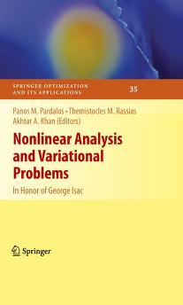 Nonlinear Analysis and Variational Problems by P. M. Pardalos