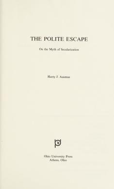 Cover of: The polite escape | Harry J. Ausmus