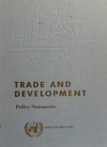 Cover of: Proceedings | United Nations Conference on Trade and Development (1964 Geneva)