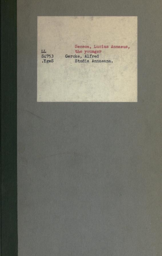 Studia Annaeana ... by Gercke, Alfred
